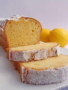 a pinch: lemon-cream cake Lemon Cream Cake, Sour Cream Cake, Sweet Cookies, Cake Cookies, Sweet Recipes, Cake Recipes, Hungarian Recipes, Sweet Bread, Pound Cake