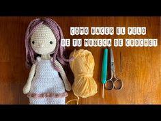 Cómo hacer el pelo de tu muñeca de crochet - YouTube Amigurumi Tutorial, Crochet Doll Pattern, Doll Patterns, Spiderman, Crochet Hats, Teddy Bear, Knitting, Crafts, Animals