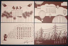 55 Creative and Unique Calendar Designs | UPrinting Blog  ***Check out other calendar designs (55)