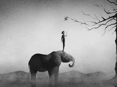 """digitalloop: """"Animated Painting: Elephant by Rich Hinchcliffe """""""