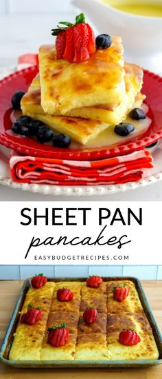 Easy Buttermilk Pancakes - These Buttermilk Sheet Pan Pancakes are the easiest and tastiest pancakes that you will ever make! Buttermilk Pancakes Easy, Tasty Pancakes, Fluffy Pancakes, Best Breakfast Recipes, Brunch Recipes, Budget Recipes, Budget Dinners, Quick Recipes, Dinner Recipes