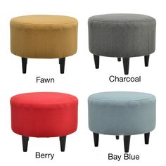 Sophia Candice Round Ottoman | Overstock.com Shopping - The Best Deals on Ottomans