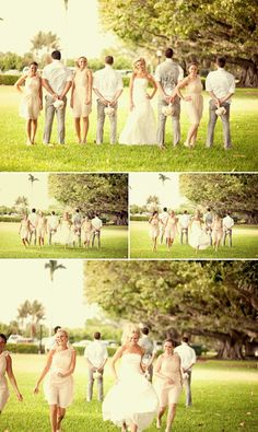 Last wedding I went to they did a series of running and skipping pics that turned out really cute!