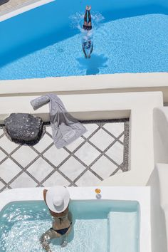 Canaves Oia Hotel & Suites, a luxury hotel in Santorini perfect for a summer getaway Santorini Hotels, Mykonos, Best Boutique Hotels, Luxury Pools, All I Ever Wanted, Hotel Suites, Greek Islands, Beautiful Islands, Windows