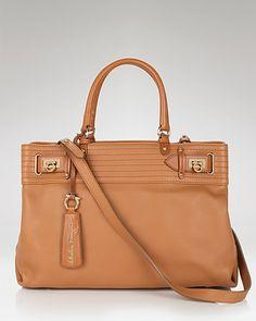 245e0b398d Salvatore Ferragamo Gancini Lineage Charlize Soft Leather Tote Handbags -  Bloomingdale s