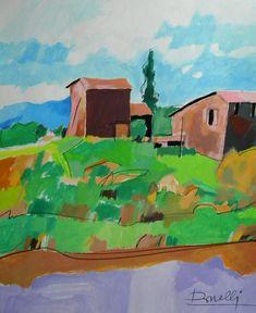 Casolari in prossimità delle colline. Houses in the vicinity the hills. 2001. Gabriele Donelli