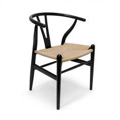 Ch24 Wishbone Chairs - Set Of Two -Black / Natural | Memoky.com
