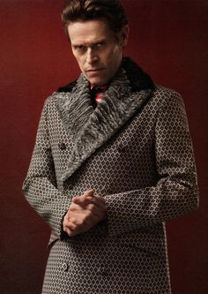 Willem Dafoe / Born: William J. Dafoe, July 22, 1955 in Appleton, Wisconsin, USA / wearing Prada
