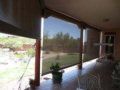 Keep The View With 90% Sun Block Mesh Fabric Screens