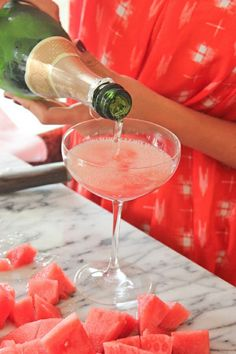 Watermelon & Champagne