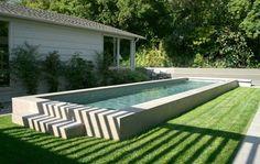 Above Ground Pool Landscape Designs | Raised Lap Pool, Elevated Lap PoolSwimming PoolZ Freedman Landscape ...