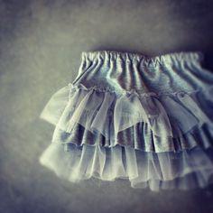 DIY knit and chiffon ruffles skirt