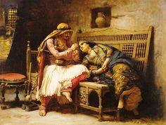 Frederick Arthur Bridgman (1847-1928) American: 'Queen of the Brigands (1882)'