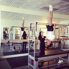 "@mikainstagram ""Pre-studio morning workout in LA"" 4/19/2014 Mika do candlestick pull-ups on the Cadillac @ Cotrone Pilates in West Hollywood, CA, USA"