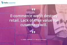 Embrace this changing environment. Instead of fearing disruption, engage in your retail organisation's transformation.