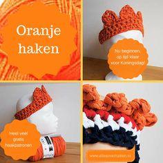 Heel veel gratis haakpatronen voor alle Oranje feestjes!