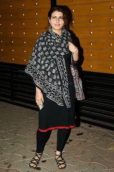 Fatima Sana Shaikh looks beautiful in an all black traditional dress at an event! #TraditionalDress #Black #salwarkameez #Dress #IndianDress