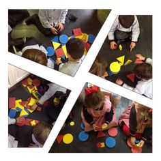Conceptos matemáticos. Con los Bloques Lógicos trabajamos diferentes conceptos: círculo,cuadrado,triángulo, rectángulo, grande-pequeño, semejanza,conjuntos, números...E.I.Colegio Nuestra Sra. Santa María. Madrid