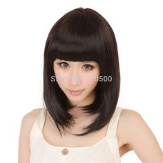 Black Short Wig Synthetic Fiber Pixie Cut Hairstyle