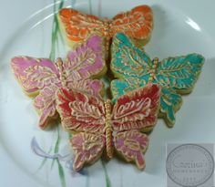 BUTTERFLY COOKIES WITH GOLD SHIMMER
