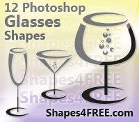 Photoshop Custom Shapes: 12 Free Photoshop Glass Shapes