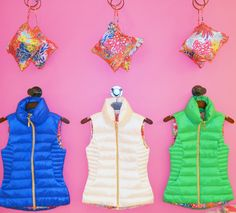 Lilly Pulitzer Allie Packable Quilted Vest- literally folds itself into a printed pouch.