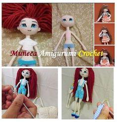 Muñeca a crochet Articulada