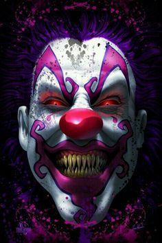 Keep Smiling Scary Clown Horror Tom Wood Fantasy Art Poster Halloween Clown, Gruseliger Clown, Terrifying Halloween, Halloween Stories, Clown Faces, Creepy Clown, Happy Halloween, Halloween 2013, Arte Horror