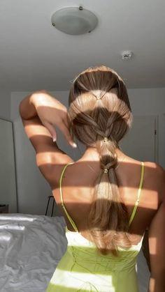 Summer Hairstyles, Diy Hairstyles, Pretty Hairstyles, Simple Hairstyles, Blonde Hair Looks, Aesthetic Hair, Hair Dos, Hair Inspiration, Hair Inspo