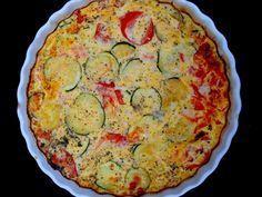 poivre, oeuf, huile, courgette, tomate, thon blanc, sel, herbes de provence, crème fraîche allégée, fromage râpé