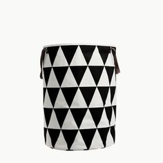The shapely Triangle Laundry Basket was designed for the label ferm Living. The laundry basket by ferm Living convinces with its clear, graphic design and high Toy Storage, Storage Baskets, Storage Organization, Nursery Storage, Storage Spaces, House Doctor, Cute Blankets, Laundry Hamper, Laundry Cart