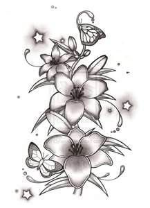 Black And White Lily Tattoo Design For Girl  Tattoos Ideas