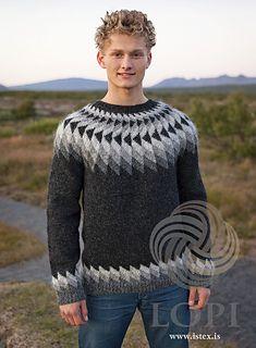 - Icelandic Jón (John) Mens Wool Sweater Black Heather - Tailor Made - Nordic Store Icelandic Wool Sweaters - 1 Thick Sweaters, Wool Sweaters, Handgestrickte Pullover, Mens White Shorts, Icelandic Sweaters, Fair Isle Knitting, Knitting Designs, Pulls, Knit Crochet