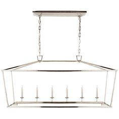 This 6 light Linear Pendant from the E.F. Chapman Darlana collection by Visual Comfort will enhance your home with a perfect mix of form and function. This item qualifies for free shipping! Check the