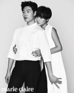 Hwang Jeong-eum and Ryu Jun-yeol pretended to be lovers for a magazine. The two are starring in the upcoming MBC drama 'Lucky Romance'.