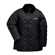 Promotional Quilted Jackets manufactured from 100% high quality, lightweight polyester with thermal wadding and a soft corduroy fabric on inner collar for increased comfort and warmth.