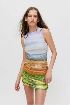 Frock Dress, Boho Dress, Vintage Dresses, Nice Dresses, Urban Outfitters Online, Urban Dresses, Tiered Dress, Tie Dye Skirt, Mini Skirts