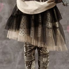 So cool- paper wings girls tulle frilled skirt