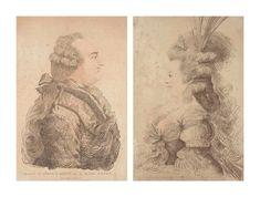 JACQUES LOUIS PETIT (1760-1812) Portrait de Louis XVI ; Portrait de Marie-Antoinette d'après Joseph Bernard (1740-1809)