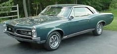 "1967 Pontiac GTO:  Many enthusiasts consider the ""Goat"" to be the first muscle car, and its classic split grill front-end design is among the most recognizable features of all muscle cars."