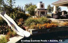 BYOS 1 Custom Slide  (Scallon Custom Pools • Austin, TX)