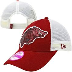 new arrival 35504 6f097 New Era Arkansas Razorbacks Ladies NCAA Sequin Shimmer Hat - White