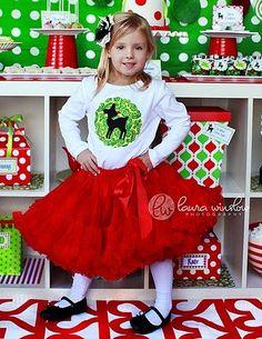 Girls Christmas Shirt ... Size 10 Ready To Ship by modernfrills