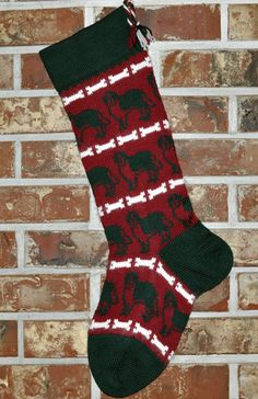 St. Bernard Christmas Stocking