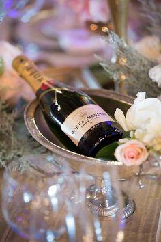 Moet and blush roses - Nadine and Lorenzo's Enchanted Parisian Wedding Parisian Wedding, Blush Roses, Event Styling, Enchanted, Style, Pink Roses, Paris Wedding
