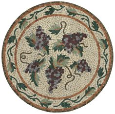 "Vineyard with Meandering Vine 36"" mosaic by Appomattox Tile Art"