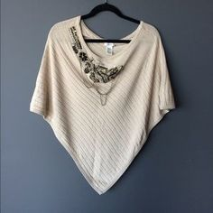 Cache Sweaters - Cache gorgeous embellished poncho