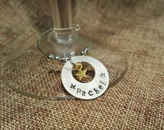 Cute hand stamped  Aluminium glass charm from Mums Jewellery Shed on Facebook.