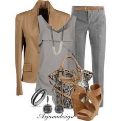 Really like this mix of browns, greys and styles, as long as jacket isn't too heavy material