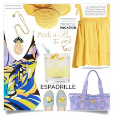 """Welcome to Paradise: Tropical Vacation"" by dolly-valkyrie ❤ liked on Polyvore featuring Emilio Pucci, Loup Charmant, Aimee Kestenberg, Anton Heunis, Soludos and tropicalvacaton"